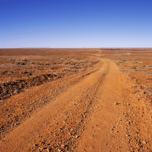 Red dirt road in the Pilbara
