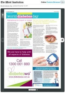 World Diabetes Day Feature in The Western Australian