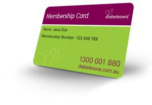 Diabetes WA membership card