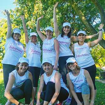Team Gluco-goers runs for Diabetes WA in the HBF Run for a Reason 2019